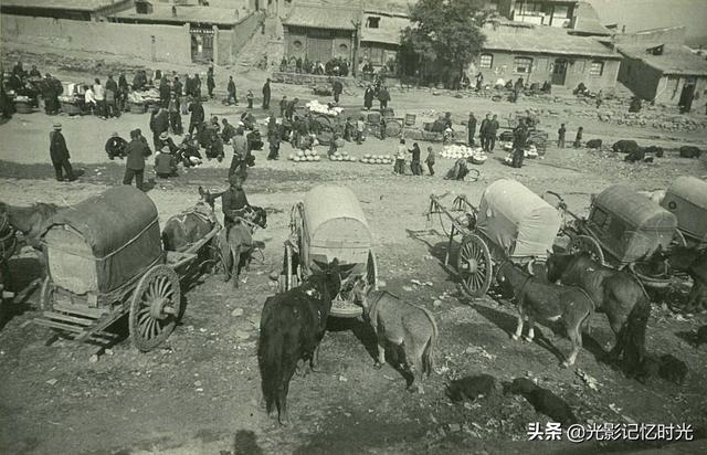 """老照片:1939年张家口大境门""""陆路商埠""""的繁华"""